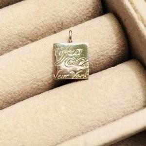 Tiffany & Co Script Square Pendant
